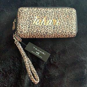 Tahiti wristlet wallet RFID lined